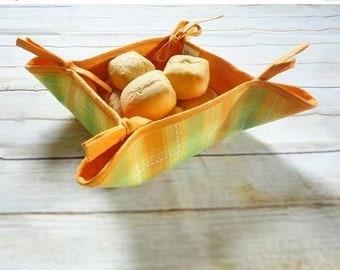 Sale 10% Linen bread basket, fruit basket,  linen basket, kitchen basket, easter decor, home accessory