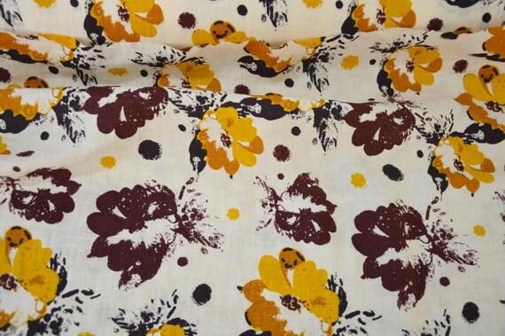 laver le tissu lin fleuri lin naturel tissu toile de lin. Black Bedroom Furniture Sets. Home Design Ideas