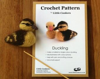 Crochet Duckling Pattern / Easter Gift for Crocheter / Crochet Pattern Gift / Printed Paper Pattern / Craft Gift / Crochet Chick Spring
