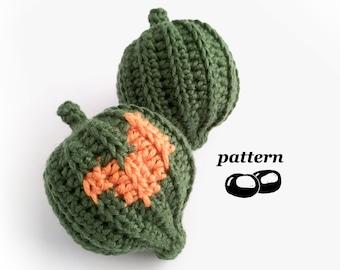 Acorn Squash Crochet Pattern / Decorative Gourd Crochet Pattern / Ornamental Gourds Pumpkins Autumn Fall Thanksgiving Halloween Decorations