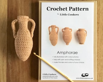 Crochet Amphora Patterns / Gift for Archaeologist Crochet Gift / Craft Gift for Crocheter / Crochet Pattern Gift / Printed Paper Pattern
