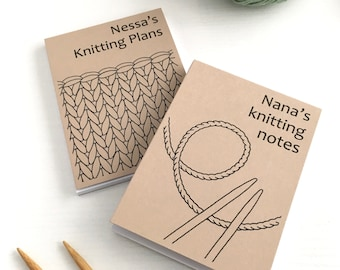 Personalised Notebook for Knitter / Knitting Notepad / Knitting Gift for Knitter / Knitter's Personalised Notepad for Knitter Craft Gift