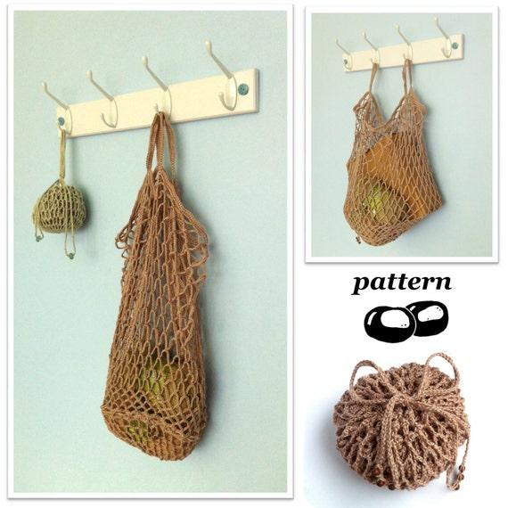 Crochet Bag Pattern Foldable Packaway Mesh Bag String Bag Etsy