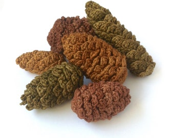 Pine Cone Decorations / Pinecones Fir Cone Ornaments / Twig Tree Decorations / Autumn Winter Christmas Decorations