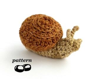 Snail Crochet Pattern / Crochet Snail Pattern / Crochet Slug Pattern