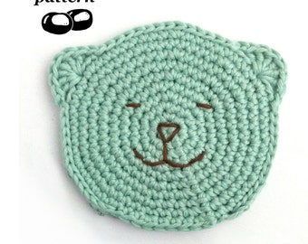 Baby Wash Cloth Crochet Pattern / Baby Bath Mitt Crochet Pattern / Child Toddler Baby / Bear Teddy / Baby Shower Crochet Gift