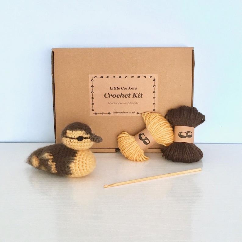 Duckling Crochet Kit / Crochet Duckling DIY Kit Craft Kit image 0