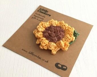 Sunflower Brooch Pin Handmade Flower Brooch Summer Sunshine Small Gift for Women
