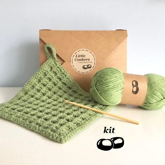 Haak Kit Diy Haak Kit Vaatdoek Kit Simple Haak Beginner Etsy