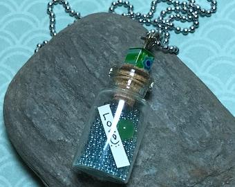 Mini Glass Jar Pendant Necklace