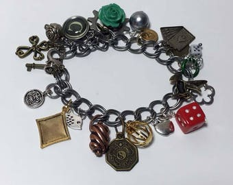 Metal Charm Steampunk Bracelet