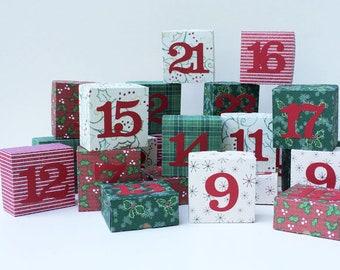 Advent Christmas Countdown Reuseable Calendar