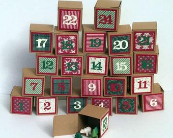 Advent Christmas Box Countdown Calendar