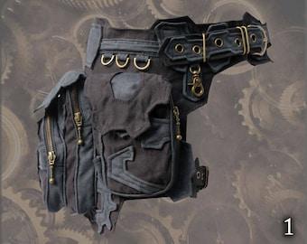 Clockwork Belt ~ steampunk style, hip waist pocket thigh bag belt