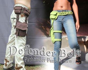 Defender Belt ~ thigh cargo pocket apocalyptic festival hip belt leg bag - unisex
