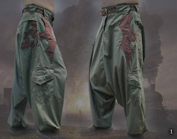 Nizari Pants ~ cargo pocket goa tribal festival baggy aladdin harem trousers