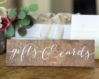Gifts and Cards Sign, Wedding Gift Table Sign,  Wood Gifts Signs reception, birthday party, bridal or baby shower, Wooden , Cards & Gifts