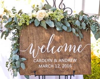 Wedding Welcome Sign Wood, Welcome Wedding Sign, Welcome Sign Wood, Wedding Signs Wood, Wood Wedding Sign, Wooden Wedding Signs, Rustic