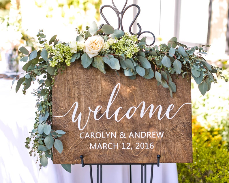 Wedding Welcome Sign Wood Welcome Wedding Sign Welcome Sign image 0