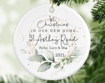 Personalised 1st Christmas In Our New Home Decoration