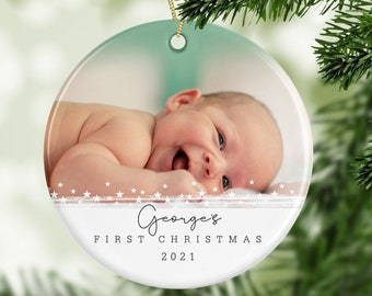 Personalised 1st Christmas Decoration - New Baby Gift