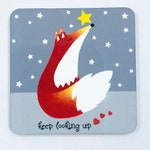 Fox Fridge Magnet - Keep Looking Up