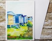 Beach Huts Greeting Card ...