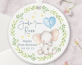 Personalised First Birthday Ceramic Keepsake Decoration