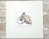 Whitstable Oyster Print -...