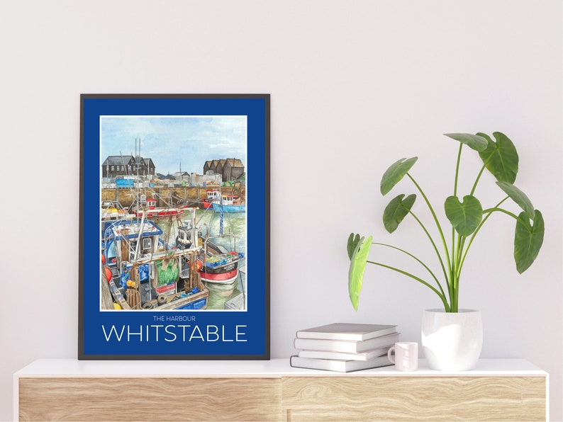 The Harbour Whitstable  Travel Poster image 0