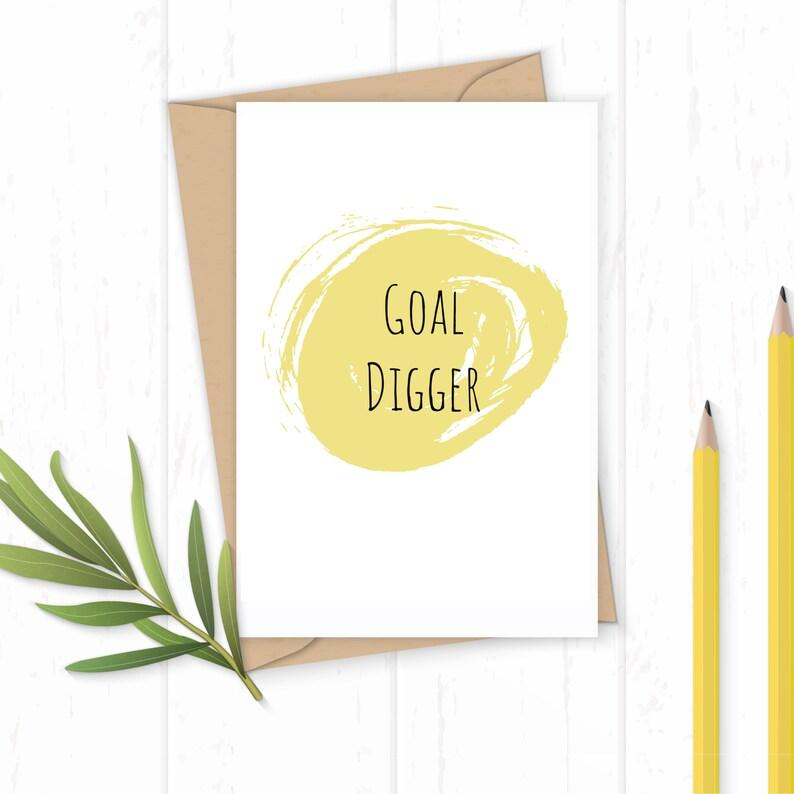 Goal Digger  Greetings Card image 0
