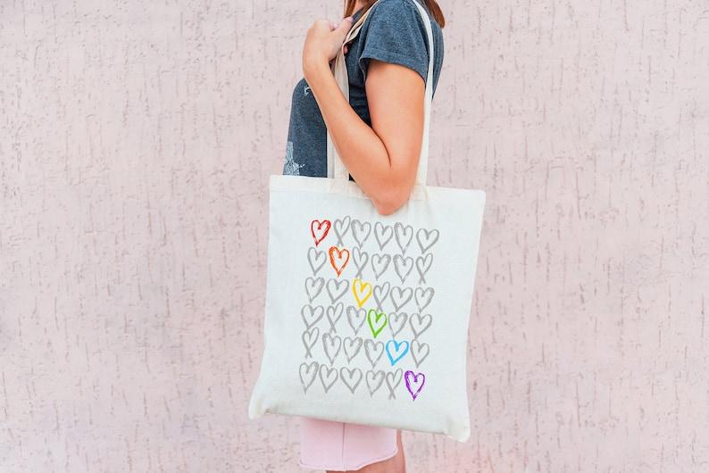 Pride Rainbow Tote Bag image 0