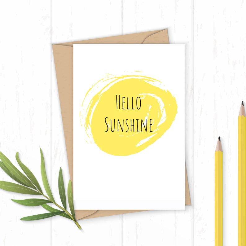 Hello Sunshine  Greetings Card image 0
