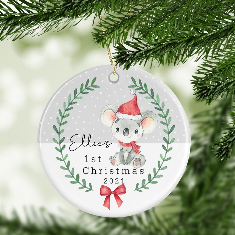 Personalised 1st Christmas Decoration  New Baby Gift image 0