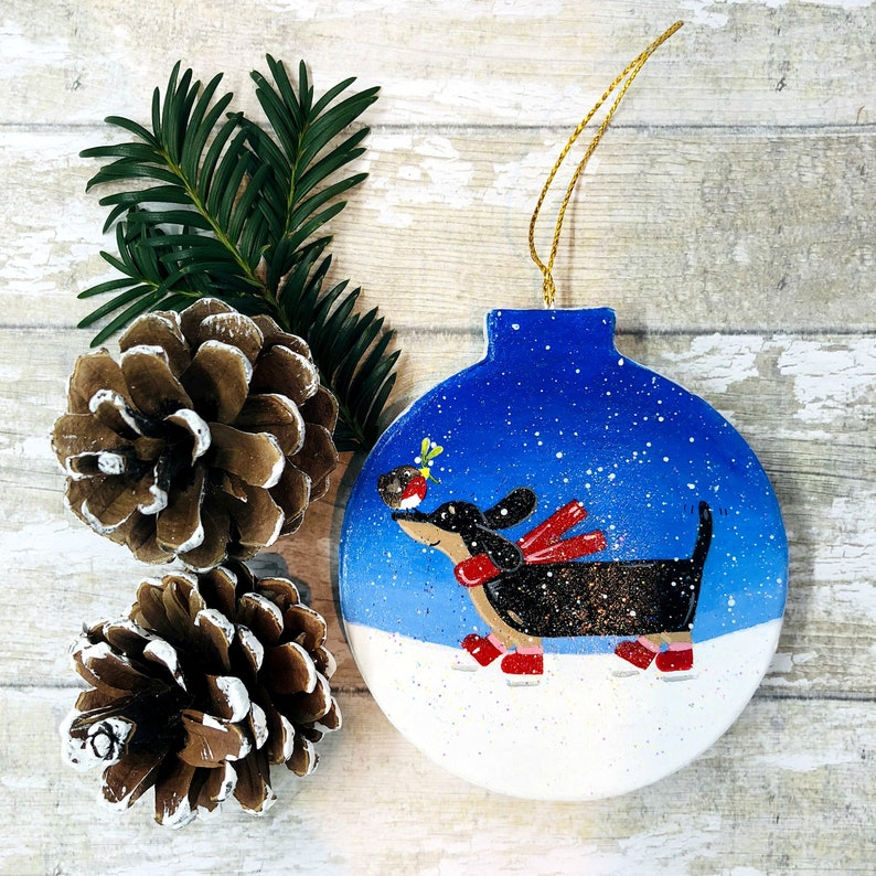 Dachshund Christmas Decoration Sausage Dog Christmas Etsy