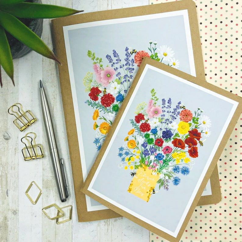 A5 & A6 Note Book  Flower Seeds For Bees image 0