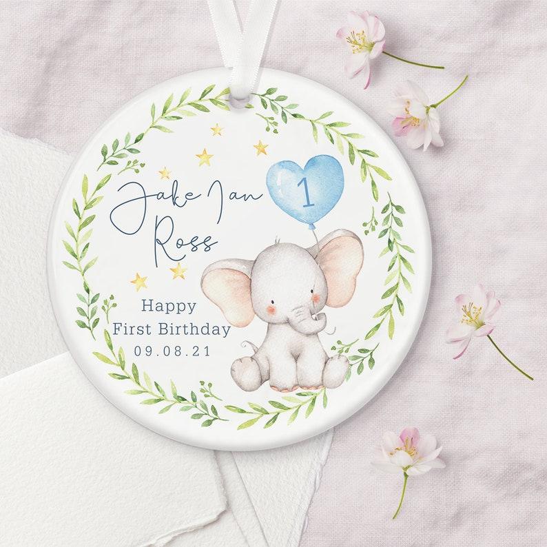 Personalised First Birthday Ceramic Keepsake Decoration image 0