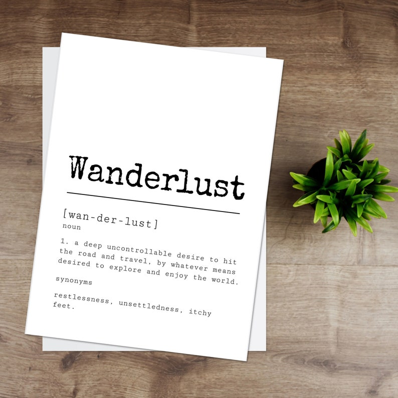 Wanderlust Print   Black & White image 0