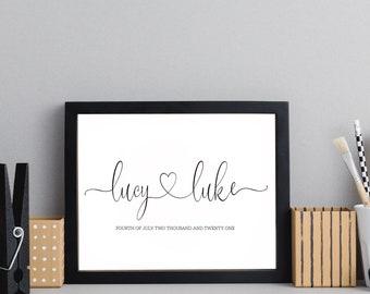 Personalised Name Print