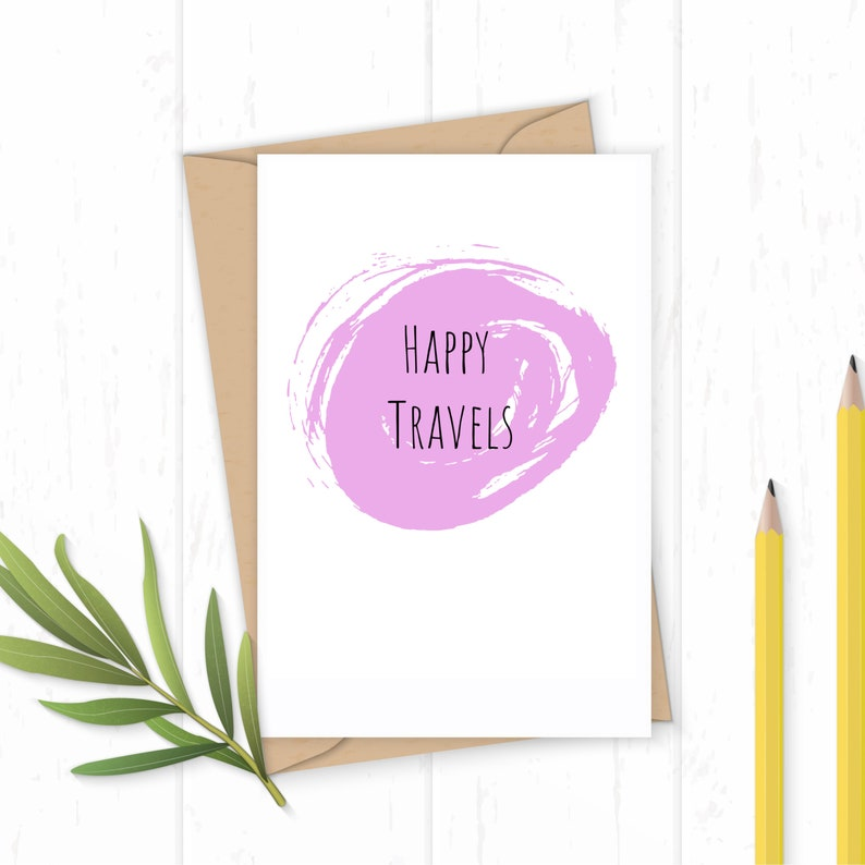 Happy Travels  Greetings Card image 0