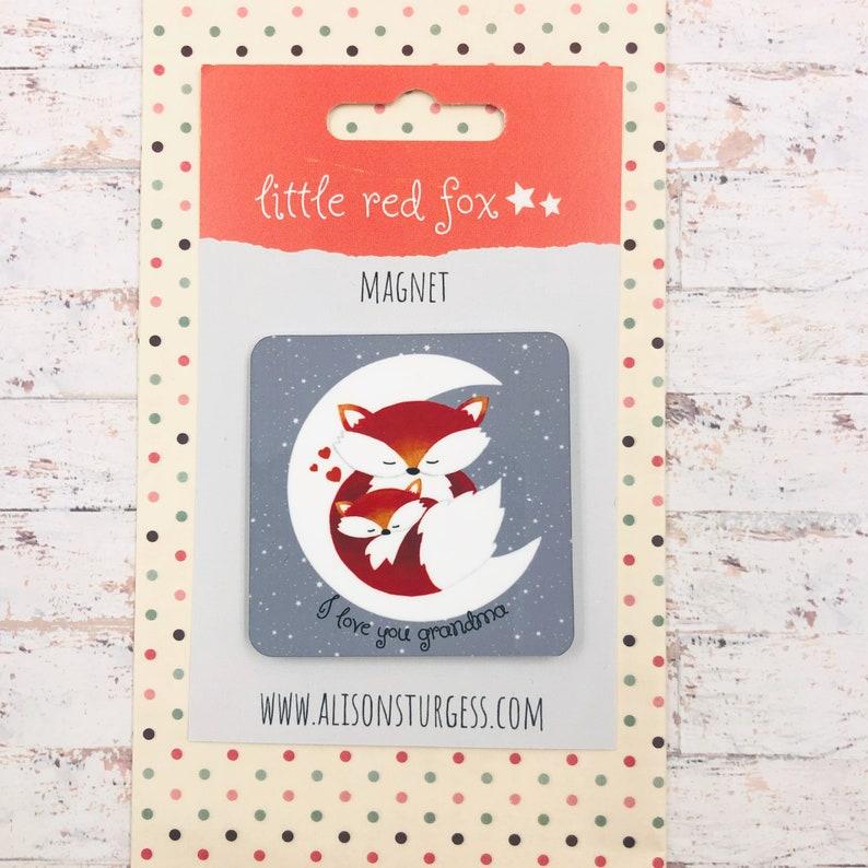 Fox Fridge Magnet  I love You Grandma image 0