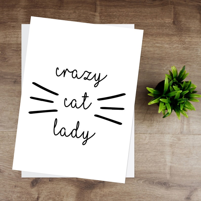 Crazy Cat Lady Print image 0
