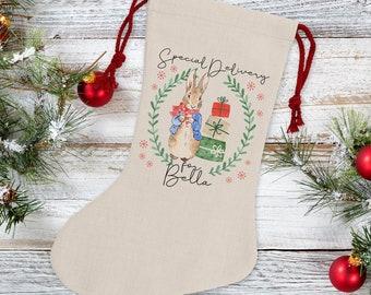 Personalised Rabbit Christmas Stocking