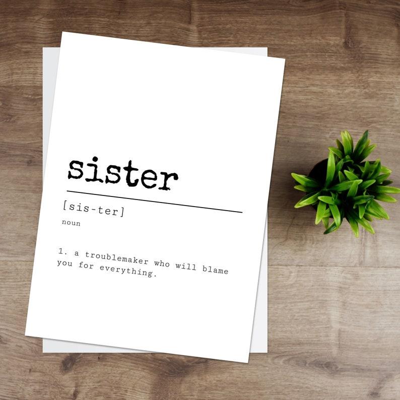 Sister Definition Print image 0