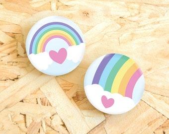 Rainbow Button Badge, 38mm