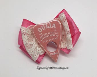 Pink Planchette Hair Bow