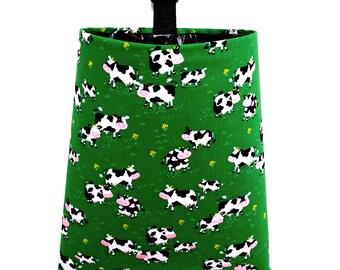 car trash bag happy cows - Christmas Tree Garbage Bag