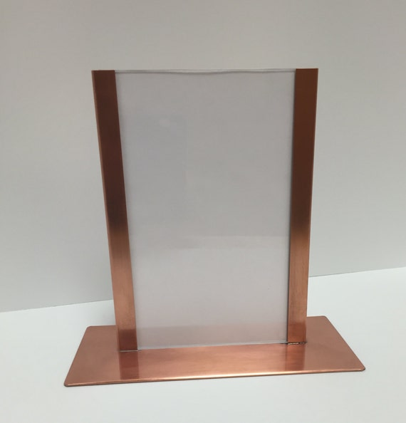 Raw Copper 5x7 Picture Menu Stand Frame Acrylic Glass Etsy