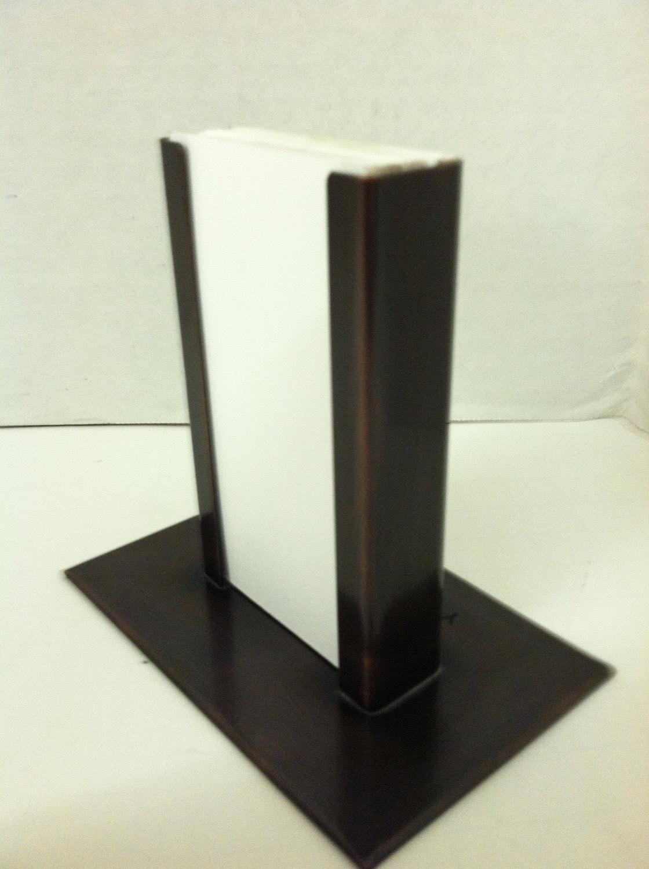 Copper vertical modern business card holder bronze patina etsy zoom colourmoves