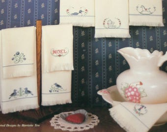 Hand Towels Cross Stitch Pattern Leaflet charts by Harriette Tew